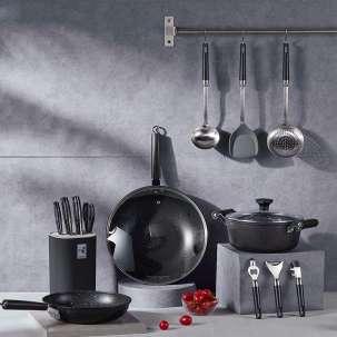 VOSIN主流爆款黑曜石厨具18件套系列 32cm炒锅