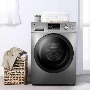 小天鹅10公斤全自动洗烘一体滚筒家用大容量变频洗衣机除菌TD100C11DY巴赫银