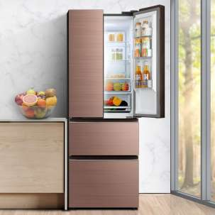 美的冰箱BCD-325WTGPM(Q) 温湿精控 325升 铂金净味 风冷无霜 变频 法式多门 安第斯玫瑰金
