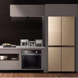 美的456L十字对开门四开门风冷无霜超薄家用冰箱