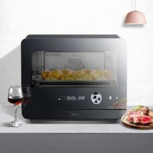 美的蒸烤箱PS20C1 家用20L大容量 多功能蒸烤箱 专业烘焙 蒸烤一体机 黑色