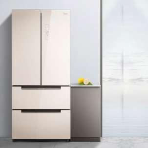 美的冰箱BCD-516WGPM 极地金 19分钟急速净味 温湿精控 风冷无霜 家用法式多门