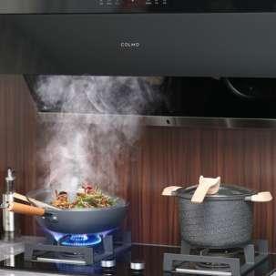 COLMO 侧吸式 智能家用抽油烟机 24m³大吸力 灭菌汽旋洗 挥手开合 CXJP924W-8