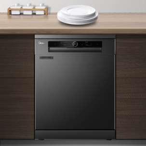 美的洗碗机P30-S 独嵌两用 变频热风烘干储存 银离子除菌 智能WIFI智控 14套线下同款
