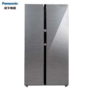 【570升线下同款】松下570升家用对开门冰箱 玻璃面板 速冻锁鲜 风冷无霜 冷藏室独立关闭NR-B600GX-S