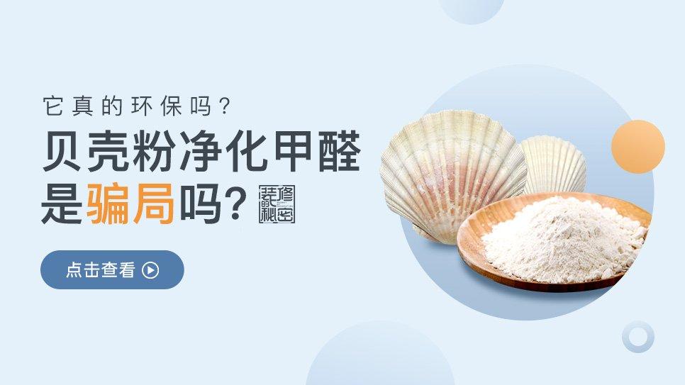 贝壳粉净化甲醛是骗局吗?它真的环保吗?