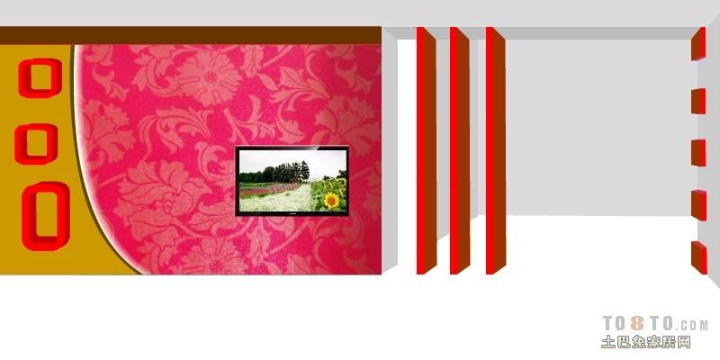 电视墙颜色搭配