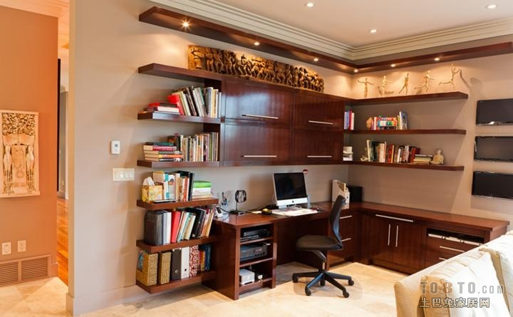 这样的家装书房书柜设计图好不好