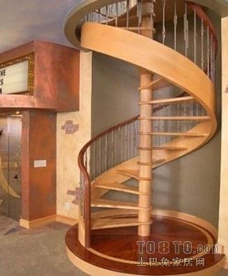 螺旋式楼梯通常是围绕一根单柱布置,平面呈圆形.