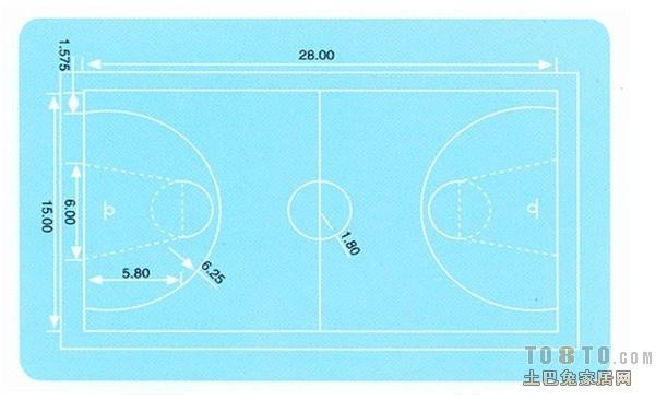篮球场标准尺寸是多少_体育场管_土巴兔问吧