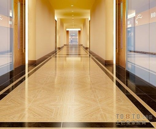 过道地砖拼花效果图 过道地砖菱形效果图 客厅过道地砖效