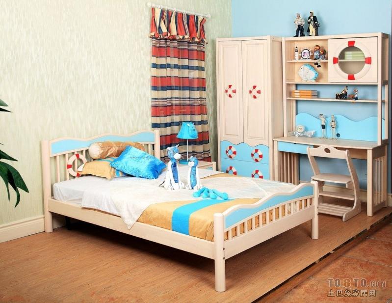 儿童房的衣柜书桌一体是怎么样子的?有图看看不
