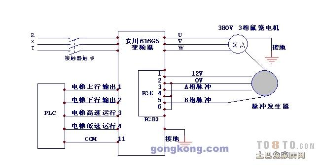 求西门子变频器接线图?