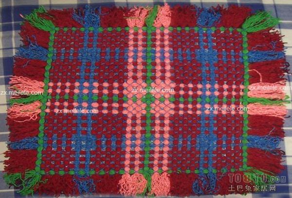 编织坐垫 椅垫 汽车坐垫 蒲团 瑜珈 用毛线编织坐垫 手工旧高清图片