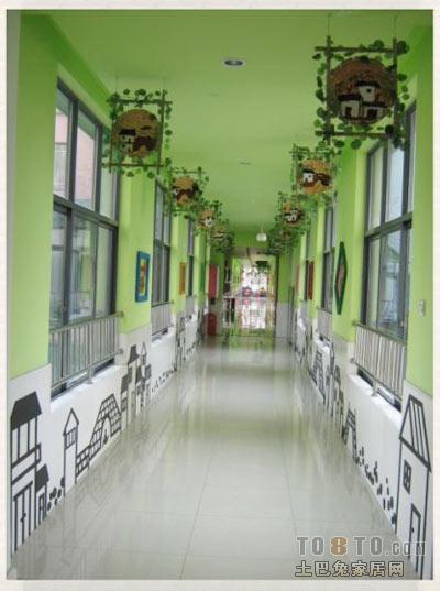 幼儿园走廊挂饰求图一张