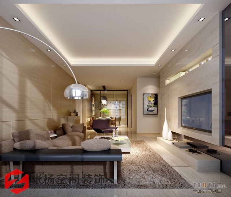 求大户型的房子装修样板房的实体效果图?_样