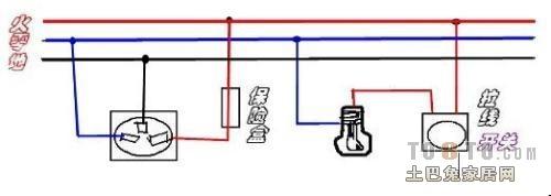 家用电灯开关接线图哪位有?