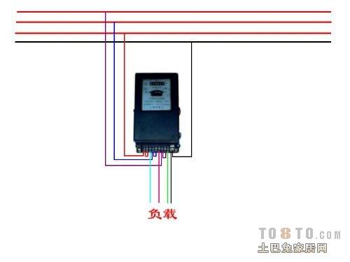 求三相四线电表接线图?
