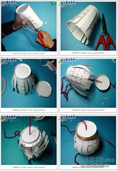 一次性纸杯制作灯笼是怎么做的?