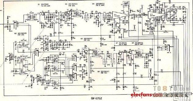 求一份收录机电路图_家用电器