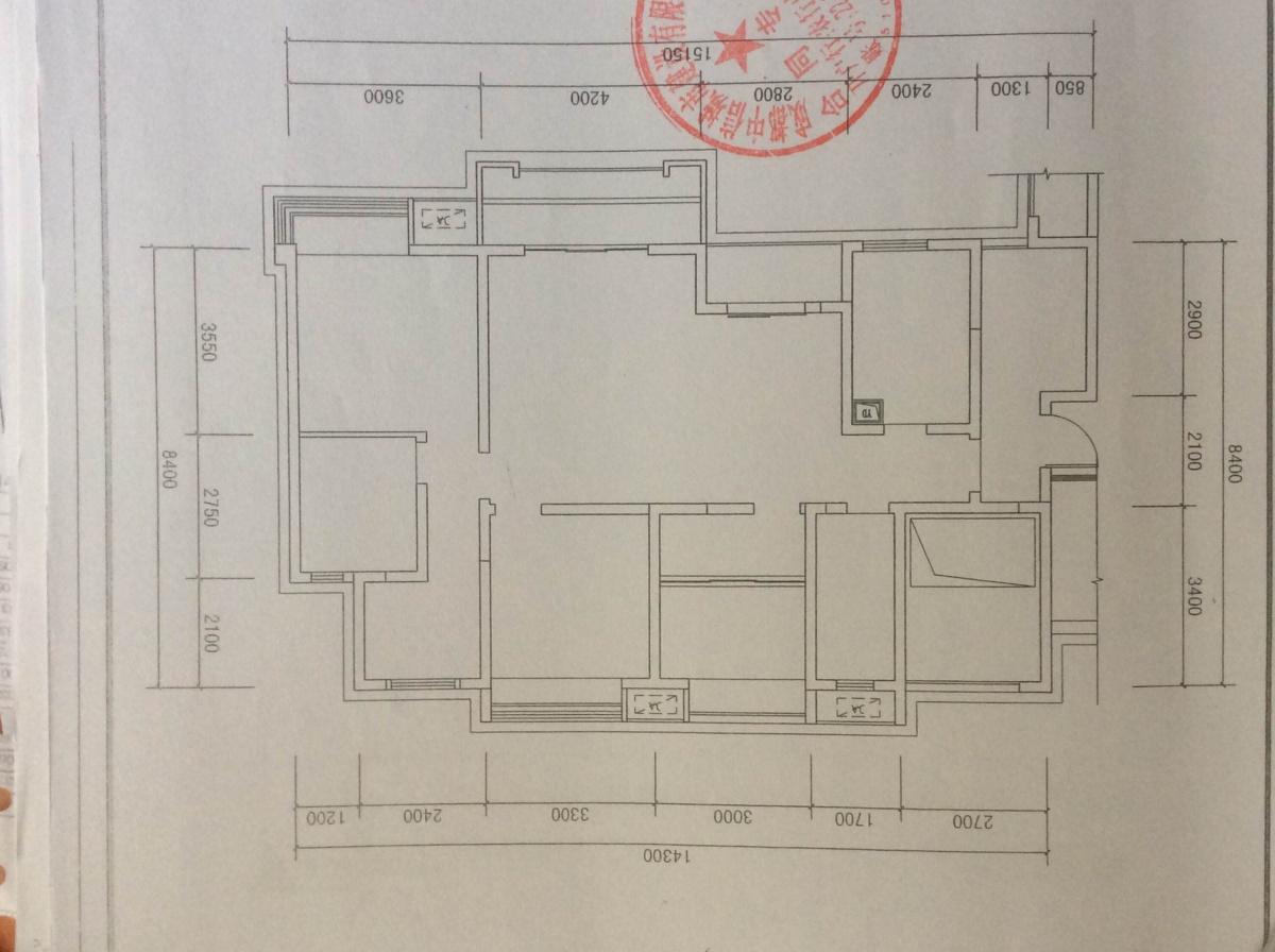 由于考虑门对着主卧门,入户在过道加装饰柜下载纸作图3d非标图片