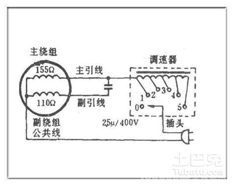 求吊扇调速器接线图图片