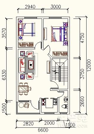 求宽6米长12米的房屋设计图,谢谢了图片