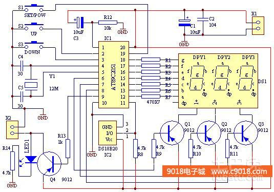 谁有美的电磁炉电路原理图