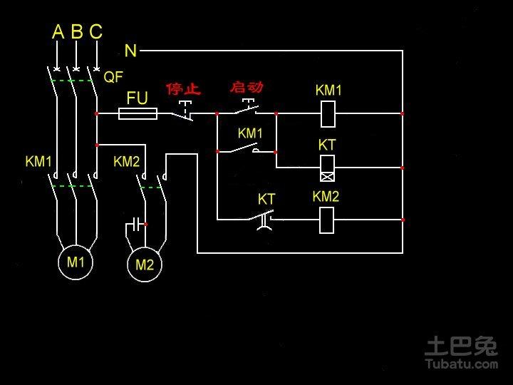 谁有施耐德接触器接线图?