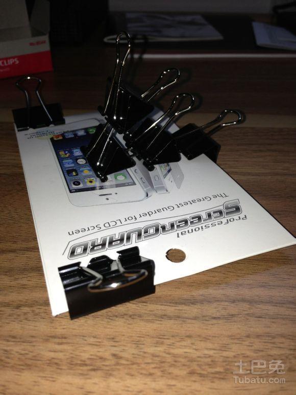 使用硬质卡片制作简易手机支架