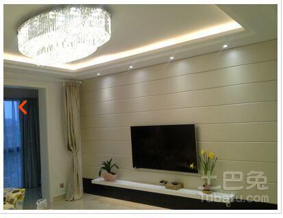 电视背景墙是什么材料_夹板木材_土巴兔装修