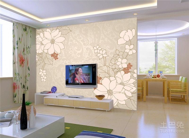 简洁大方电视背景墙如何设计?_家用电器_土巴