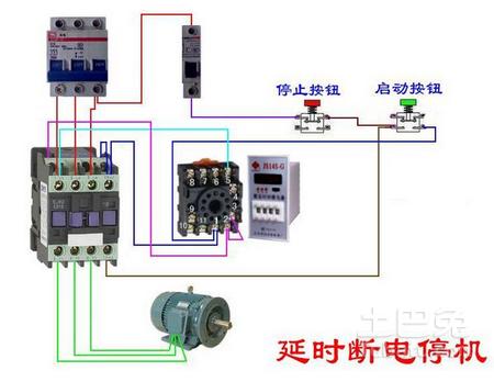 自动手动转换开关接线图求一个