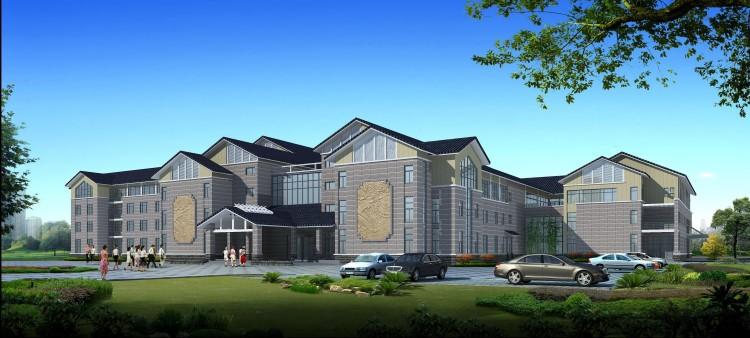 工人疗养院 建筑效果图 alice的文章 土巴兔设计师 -工人疗养院 建筑效高清图片