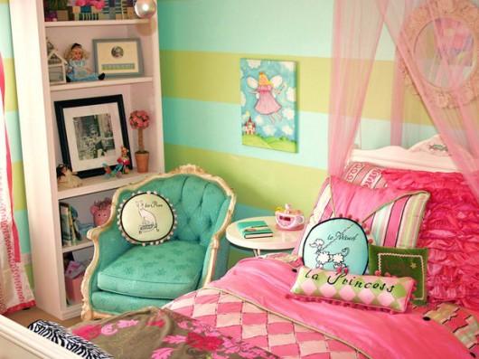欧式巴黎风格的女孩的卧室-土巴兔装修网