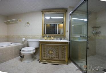 复古中式卫生间装修效果图