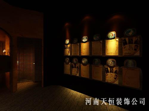 工业高档的郑州夜场装修设计,郑州个性最口碑3dv工业绘图板图片