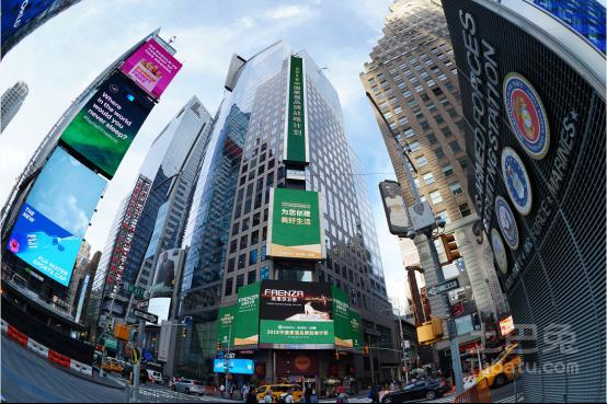 法恩莎卫浴强势登陆纽约时代广场