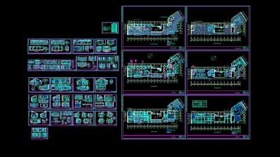 经典中式餐厅施工图.. 餐厅图块下载 餐饮类 土巴兔CAD图块频道