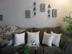 素雅的客厅装修效果图大全2014图片