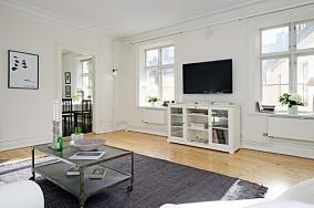 80后喜欢的小户型北欧风格客厅电视背景墙装修效果图大全2014图