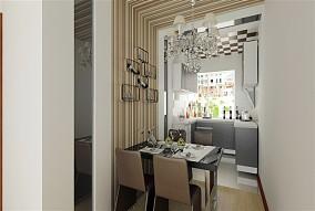 精美面积86平混搭二居客厅装修实景图