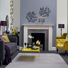客厅壁炉背景墙设计图片