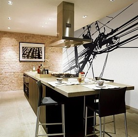 2018精选83平米二居餐厅混搭装修实景图片欣赏