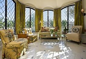 17万打造中式风格客厅飘窗别墅装修效果图大全2014图片