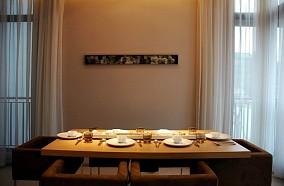 170万打造宜家中式风格餐厅窗帘装修效果图大全2012图片