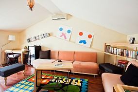 2018117平米混搭复式客厅装修图片欣赏