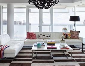 热门面积79平混搭二居客厅装修设计效果图片欣赏