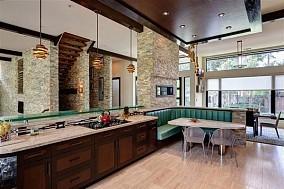 120万打造清新北欧风格厨房橱柜装修效果图大全2014图片
