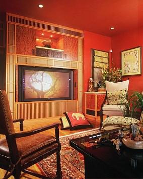 精美73平方二居客厅混搭装修实景图片欣赏